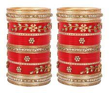 Indian Bridal Choora Bollywood Set Jewelry Wedding Suhag Chura Women Bangle Set