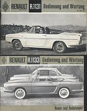 RENAULT   R 1131  +   R1133   Betriebsanleitung   CABRIO   COUPE    Handbuch  BA