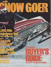 OCT 1976 SNOW GOER snowmobile magazine