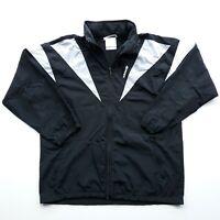 Vintage Adidas Trefoil Track Jacket Mens Sz L Full Zip Hooded Windbreaker Nylon