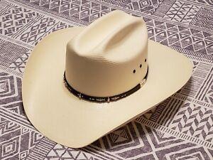 Resistol George Strait Edition Men's Straw Cowboy Hat Size 7⅜