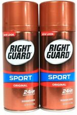 2 Ct Right Guard 8.5 Oz Sport Original 24 Hr Odor Protection Deodorant Aerosol