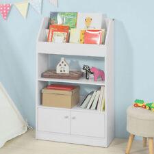 SoBuy Kinderregal Bücherregal Standregal mit 2 Ablagen für Kinder weiß KMB11-W