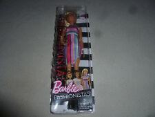 New In Box Barbie Fashionistas 68 Doll Candy Stripes Dress Mattel 2016 Blonde >>