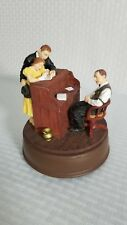 Norman Rockwell Marriage License Musical Figurine * Plays Memory First Edition