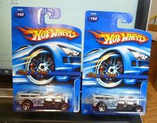 Lot of 2 ( TAMPO VARIATION ) 2006 HOT WHEELS - WAY 2 FAST #152 MF SILVER