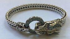 John Hardy Naga Dragon Blue Topaz Sterling Silver Bracelet