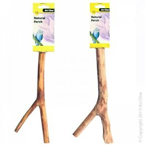 Avi One Natural Wood Perch for Bird Parrot Budgie Finch Canary Conure
