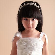 Halloween Girls Kids Rhinestone Princess Crown Wedding Birthday Headband Tiara
