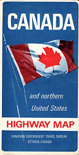 1960's Canada & Northern US Hwy Folding Map