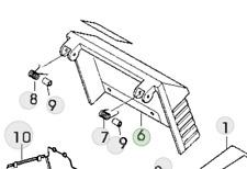 More details for genuine john deere r47s walk behind lawnmower sa695 grass deflector sa36193
