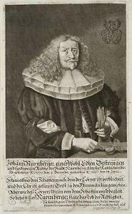 J.BÖNER (1647-1720), Johann Nürnberger (1599-1667),  1667, Kupferstich