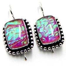 Australian Triplet Opal Sterling Silver Plated Handmade Jewellery Earring 8 Gm