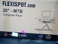 "FLEXISPOT Stand Up Desk Converter 28"" Standing Desk Riser, Height Adjustable NEW"