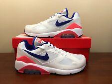 best website 0a9a3 080db Nike Air Max 180 Size 7 Ultramarine Solar Red White 615287 100 Retro