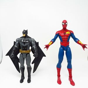 "(2) Spiderman (Disney Store), Batman (2016 Mattel) Talking 12"" Action Figure Toy"
