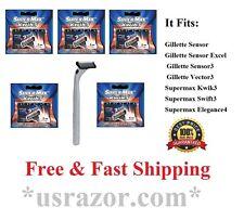 26 Supermax Kwik3 Refills BLADES 1 Razor fits Gillette Sensor3 Excel Cartridges