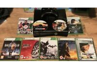 Xbox 360 4GB Console bundle + 1 Pad + 9X GAMES - USED FAST POST