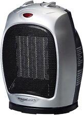 AmazonBasics 1500-Watt Oscillating Ceramic Heater-Silver
