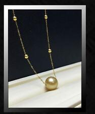 """AAA 18""""10-11MM NATURAL SOUTH SEA GOLD PEARL NECKLACE"""