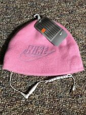 fa0d33782f5 Nike Youth Girls Pink Headphones Winter Hat beanie