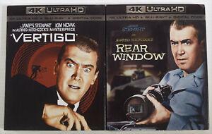 Alfred Hitchcock's REAR WINDOW & VERTIGO (4K ULTRA HD Blu-Ray Digital Slipcover)