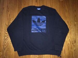 EXCELLENT CONDITION Adidas Originals Trefoil Crew Sweatshirt Men's Size 2XL