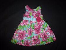 Rare Editions Girls Turquoise Pink Floral Sleeveless Dress Size 4 Easter
