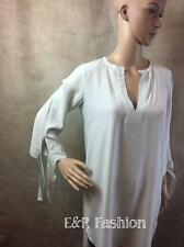 ZARA LONG TUNIC TOP WITH TIE DETAIL TO SLEEVES SIZE SMALL (B4) REF: 9479 061