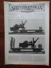 1906 Leeds Forge Bogie Railroad Car for John Fowler Traction Engine Tractor Mag