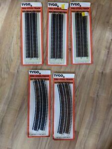Lot Of 5 Tyco Tru-Steel Tracks 417 418