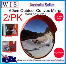 2/PK 60cm Traffic Safety Outdoor Convex Mirror,Polycarbonate,Mount on Wall& Post