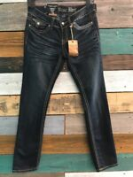 ANTIQUE RIVET JEANS, STRAIGHT LEG, 28 FLAP POCKETS MID-RISE, MSRP $74 POWT!