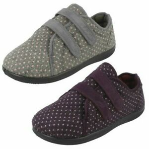 Ladies Padders Slipper Shoes Duo