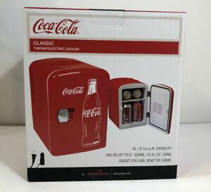 Coke Coca Cola 6 Can Personal Mini Cooler Mini Fridge 120VAC or 12VDC Home Car