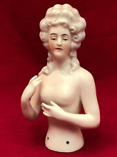 Demi Figurine Porcelaine Buste Nue d'Elegante Antique French Porcelain Large