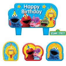 Sesame Street Party Supplies CANDLES Pack Of 4 Genuine Licensed