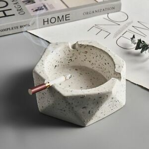 Nordic Creative Round Cement Ashtray Home Decor Accessories Smoking Ash Holder
