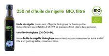 Huile de nigelle / 250 ml d'huile de nigelle  BIO, filtré