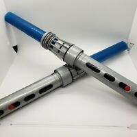 TWO Matching Star Wars Build Your Own Lightsaber Disney Parks - Blue Light Up