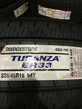 1 New 235 45 18 Bridgestone Turanza ER33 Tire