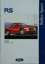 Ford RS Sales Brochure - September 1994 Edition two. #