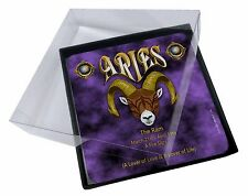 4x Aries Astrology Star Sign Birthday Gift Picture Table Coasters Set in, ZOD-1C