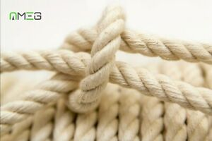 100%Natural Cotton Rope Sash Cord White Twine Washing Clothes 3 Strand High Qly