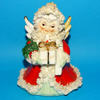Vintage Napco Xmas Christmas Angel Planter Presents Spaghetti Trim S1700A Japan