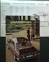 Vintage 1980 Brochure Mercedes Benz 280E Car Sales Advertising Catalogue