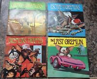 Lot Of 4 Gremlins Read-Along Books & records Story 2-5 Vintage
