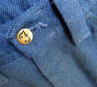 28x30 True Vtg 60s mens FARAH COBALT BLUE MOD BELLBOTTOM RELIC PANTS JEANS USA