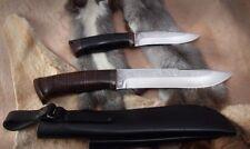 "SIBERIAN ETHNIC Russian Handmade  Survival knife set ""Shaman"" Forged steel 95x18"