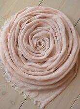 """SOFT 100% LINEN Gauze Pale Pink Lightweight Summer SCARF Wrap 19"""" x 77"""""""